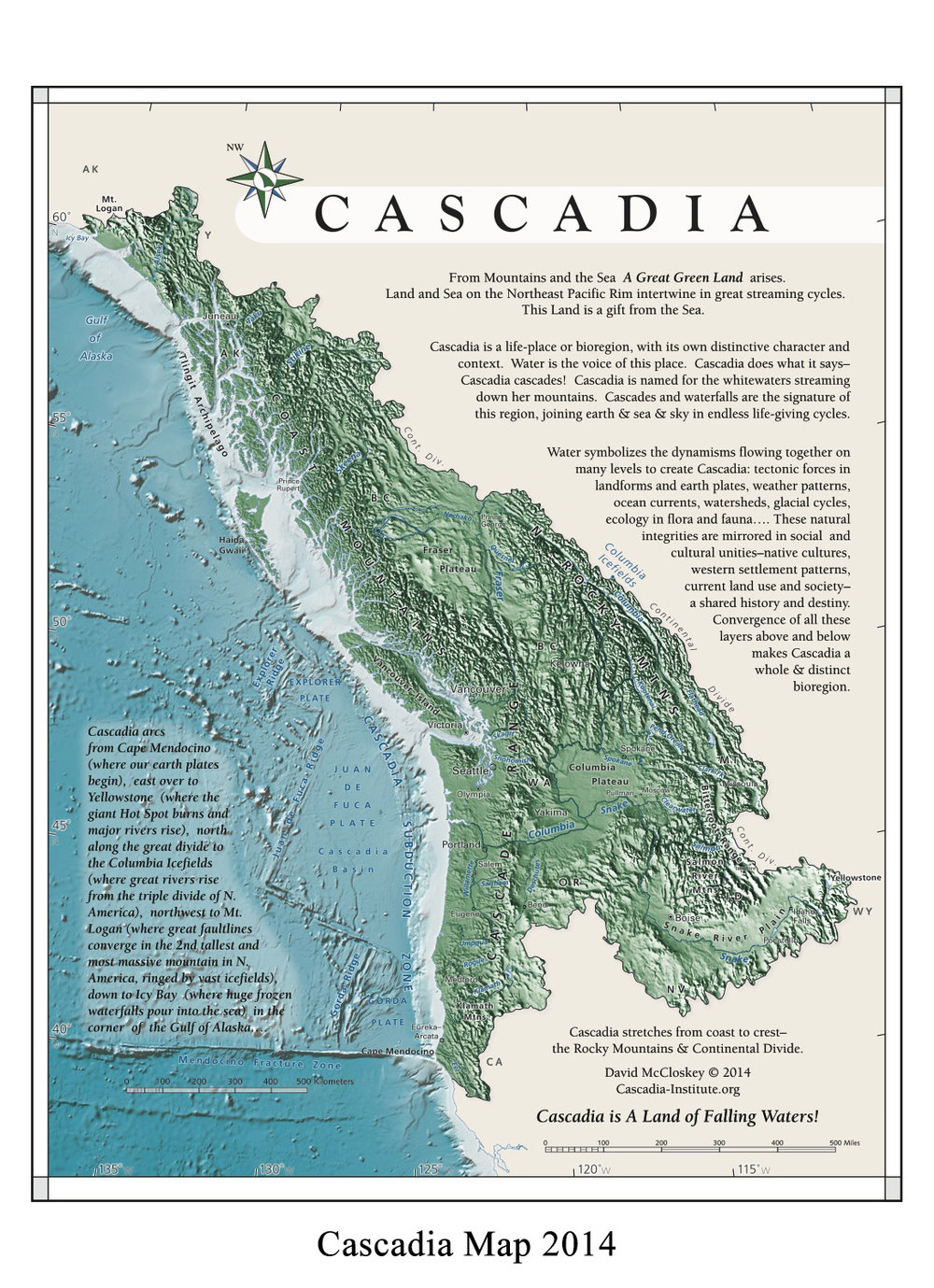 Cascadia Institute Map