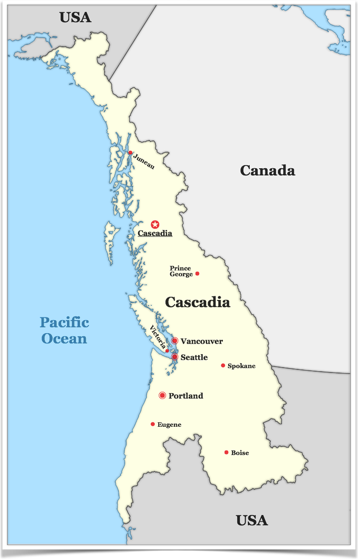 Kristberinn Map of Cascadia