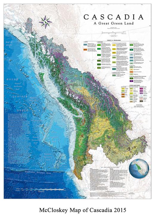 McClosky Map of Cascadia