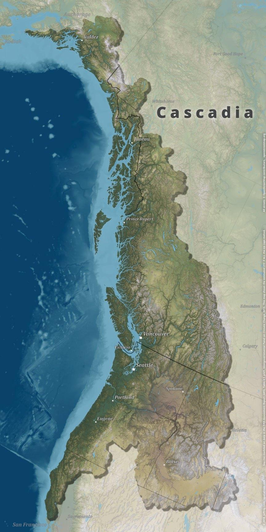 Spatialities Cascadia Map